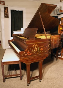 Art Case Chickering Baby Grand Piano