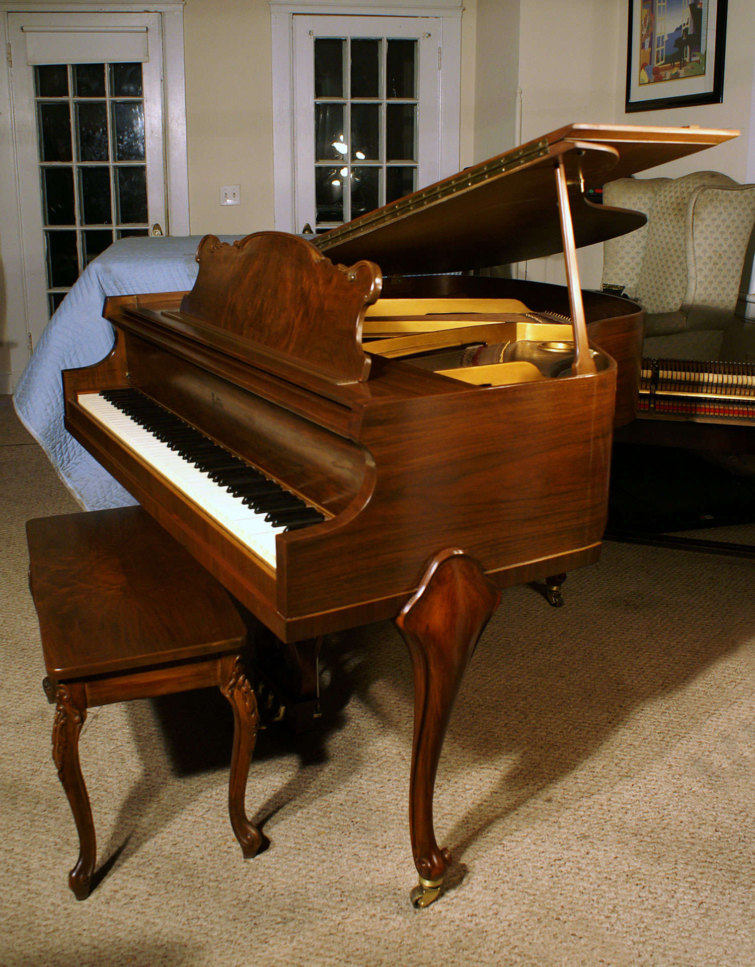 Art Case Baby Grand Piano 4 7 Estey Mahogany Just