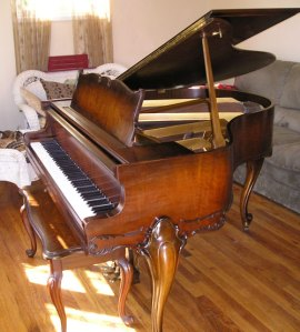 Harrington Grand Piano French Legs