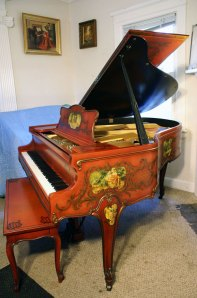 Weber Hand Painted Grand Piano