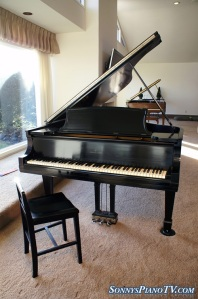 Steinway Model B Ebony Grand Piano