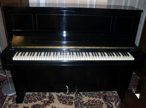 Sonny S Piano Tv Steinway Upright Model 1098 46 Ebony