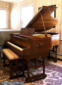 Vose Baby Grand Piano Double Leg