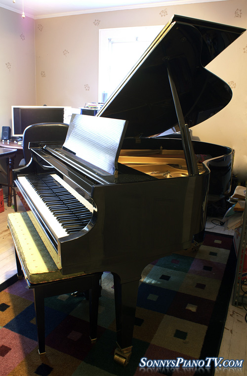 Baldwin Baby Grand Piano See Video Ebony 1990 Model M 5