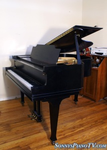 Cable Ebony Baby Grand Piano