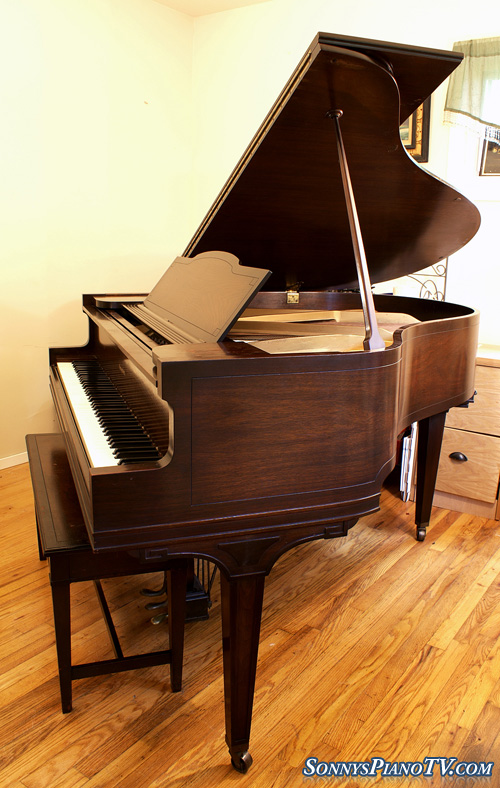 58ba99c7d8c George Steck Baby Grand Art Case Inlaid Two Tone Mahogany – See ...