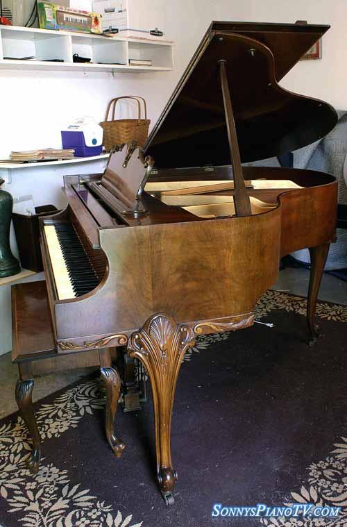 Queen Anne Legs Piano Art Case Brahms Baby Grand 5