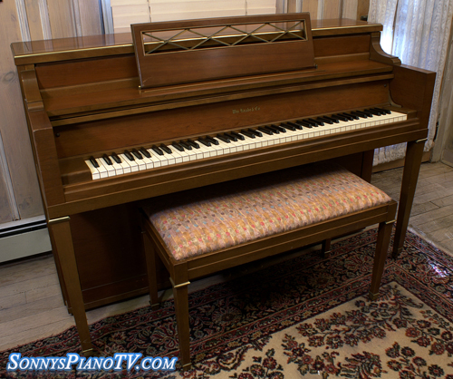 Knabe Console Piano Walnut Excellent 1500 Sonny S Piano Blog