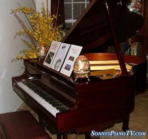 Player Piano Baby Grand Kohler & Campbell Cherry Mahogany 4'8 ...