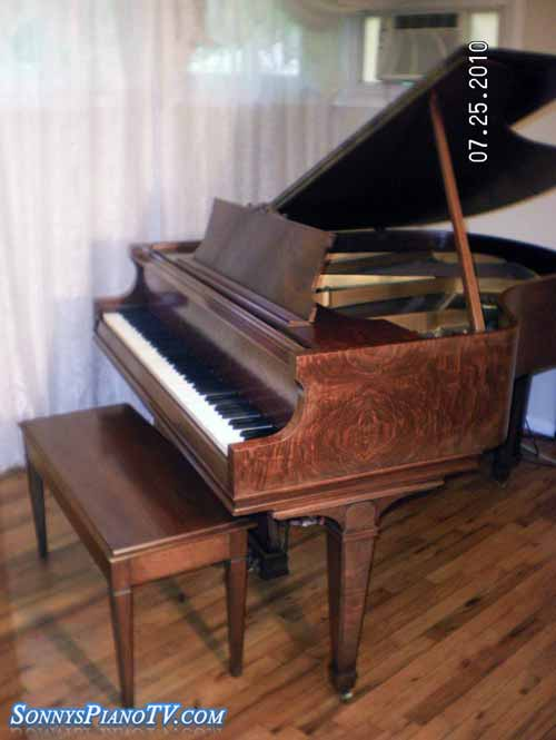 Chickering Piano Baby Grand 5 3 Gorgeous Walnut 1930 S
