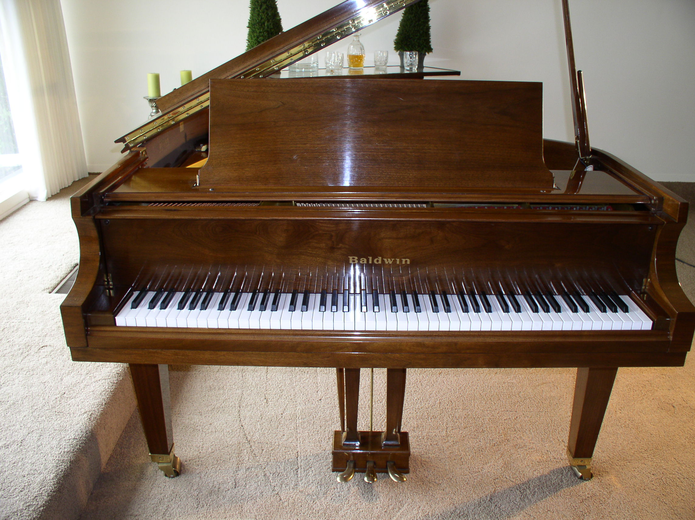 Baldwin Baby Grand Piano Model M 5 2 Walnut 1988 Like New