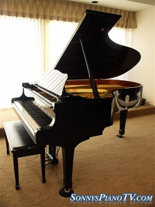 Yamaha Conservatory Ebony Grand Piano