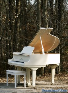 Young Chang White Grand Piano