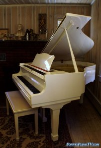 Yamaha White Grand Piano