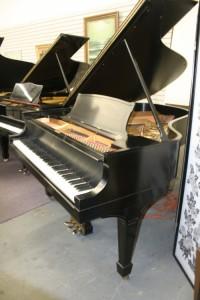 Steinway Grand Piano Model L Rebuilt/Refin. Satin Ebony Finish