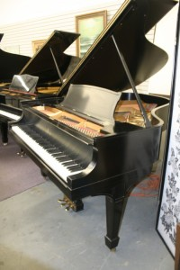 Steinway Grand Piano Model L Rebuilt/Refin. Satin Ebony Finish