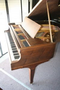 Knabe Baby Grand Piano, Just Refinished/Rebuilt Walnut