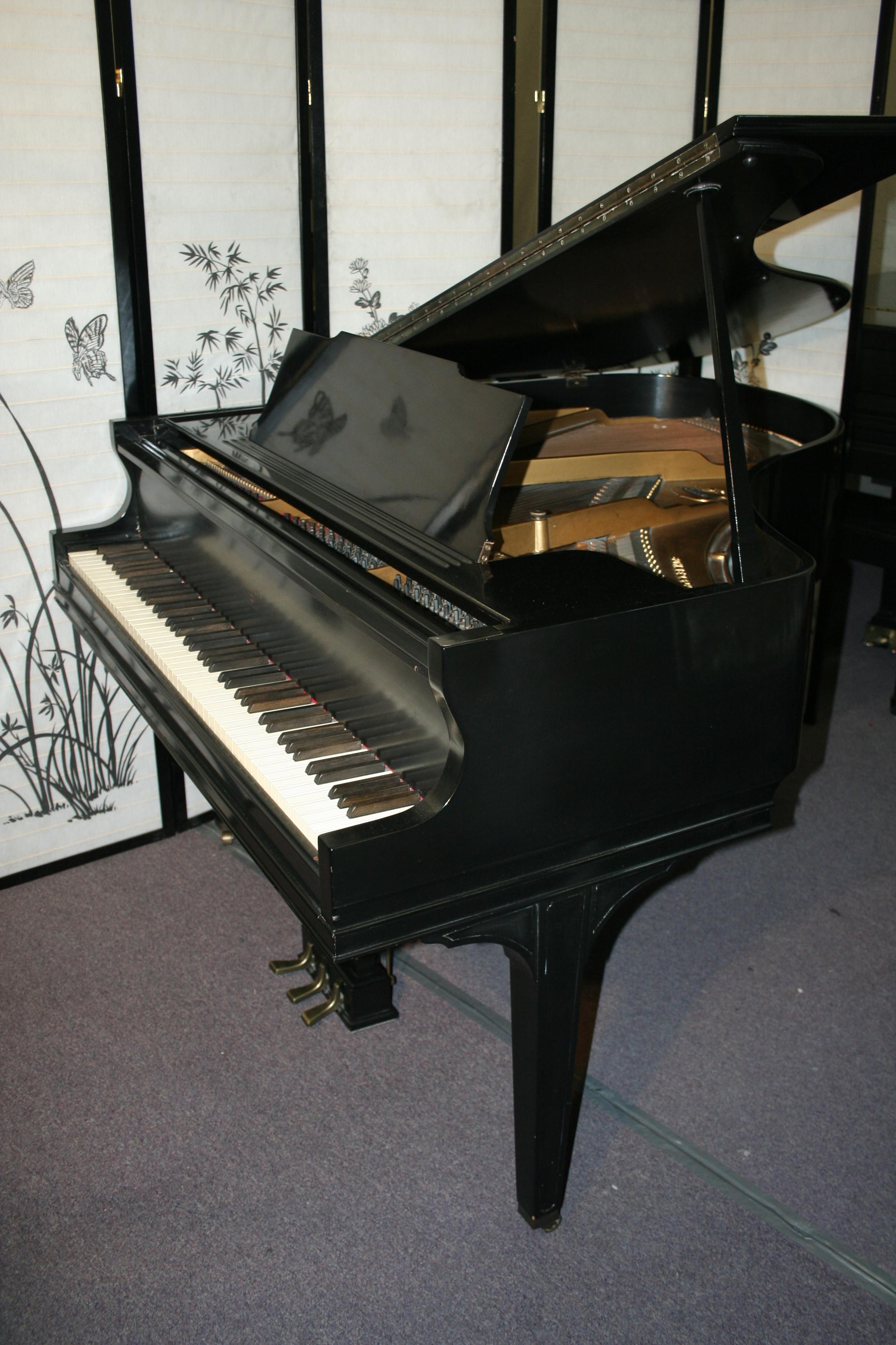 Sohmer Baby Grand Piano Video Semi Gloss Ebony 1936