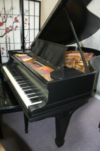 Steinway O Grand Piano Satin Ebony Rebuilt/Refin