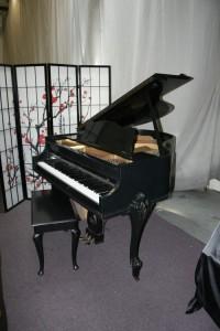 Art Case Ebony Gloss Sterling Baby Grand Piano