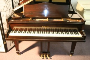 Knabe Baby Grand Piano, Mahogany, Just Refinished/Rebuilt
